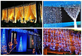 Светодиодная гирлянда, как элемент декора в праздники. Преимущества LED гирлянды.
