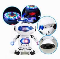 Танцующий светящийся робот Dancing Robot танцор интерактивный детская игрушка музыкальный робот Белый
