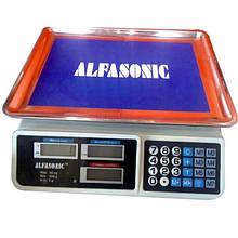Весы торговые электронные Alfasonic AS-A072 настольные, до 50 кг
