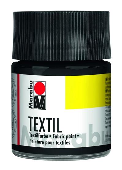 Краска акриловая д/св. тканей Marabu 50 мл черный (4007751009258)
