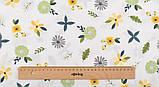Набор отрезов сатина с рисунком для рукоделия нежного желтого цвета  - 8 отрезов 40*50 см, фото 8