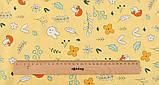 Набор отрезов сатина с рисунком для рукоделия нежного желтого цвета  - 8 отрезов 40*50 см, фото 6