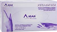 Перчатки медицинские, нитриловые, неприпуренные IGAR размер M (7-8) 1 упак. 200 штук.