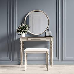 """Туалетный столик с зеркалом и банкеткой """"Ренессанс Капучино"""""""