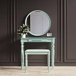 """Туалетный столик с зеркалом и банкеткой """"Ренессанс Бирюзовый"""""""