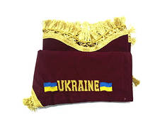 Штора на лобовое + боковые стёкла (UKRAINE) бордовый (9147)