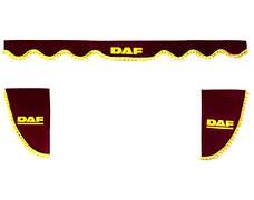 Шторки на лобове+бічні скла DAF колір бордовий/2447