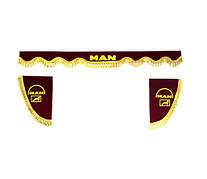 Шторки на лобовое+боковые стекла MAN цвет бордовый/2023