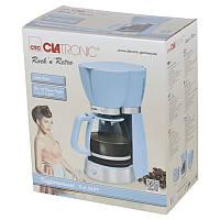 Ретро-крапельна кавоварка 1,7 літра Clatronic KA 3689 (блакитна) 1000ВТ Німеччина