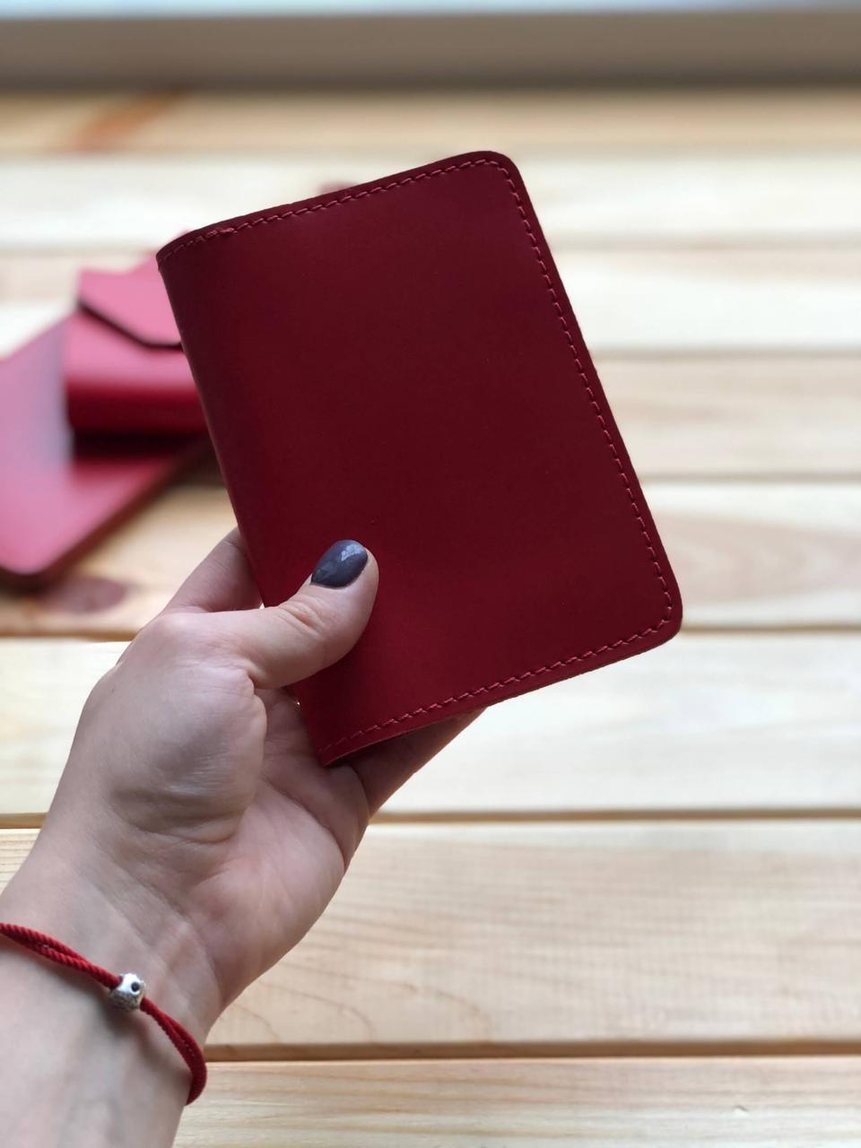 Кожаная обложка на паспорт (Ручная работа)