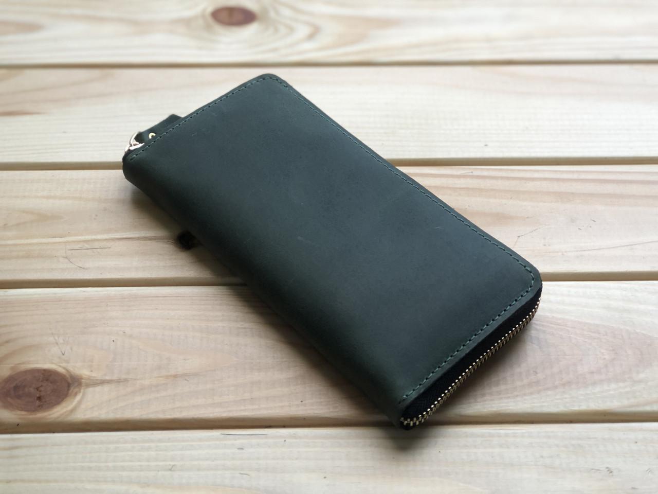 Жіночий шкіряний гаманець Zipper (Ручна робота)