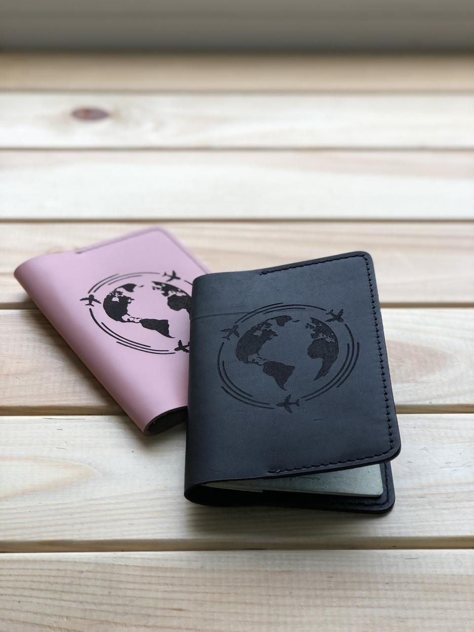 Шкіряна обкладинка на паспорт (Ручна робота)