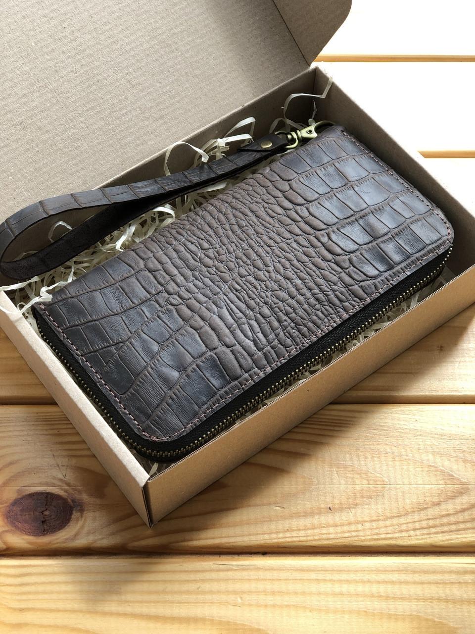 Женский кожаный кошелек Zipper (Ручная работа)