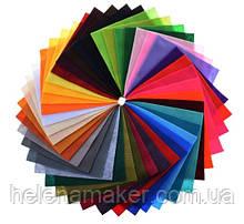 Набор мягкого фетра 42 листа разных цветов 15*15 см. Великолепное качество, фото вживую смотрите в описании.