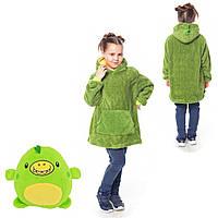Детский худи-трансформер плед мягкая игрушка Huggle Pets толстовка складываемая в мягкую игрушку Дракончик