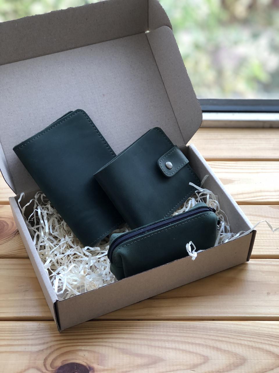 Подарочный набор кожаных аксессуаров  (Ручная работа)