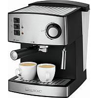 Еспресо-кавоварка ріжкова 15 бар 1,6 л Clatronic ES 3643, 850 ВТ Німеччина