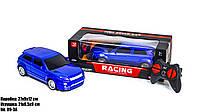 Детская игрушечная машинка джип на радиоуправлении на батарейках с пультом Racing Синий