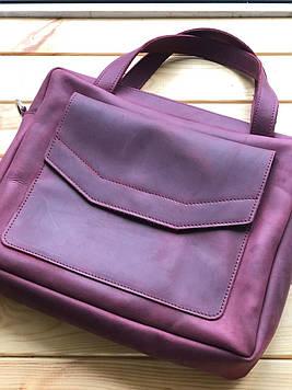 Кожаная женская сумка (портфель) Martha (Ручная работа)