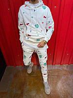 Чоловічий спортивний костюм бавовняний (Туреччина) білий