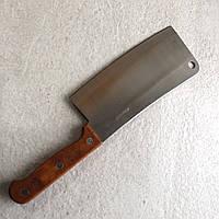 Тесак кухонный из нержавеющей стали с деревянной ручкой Kamille