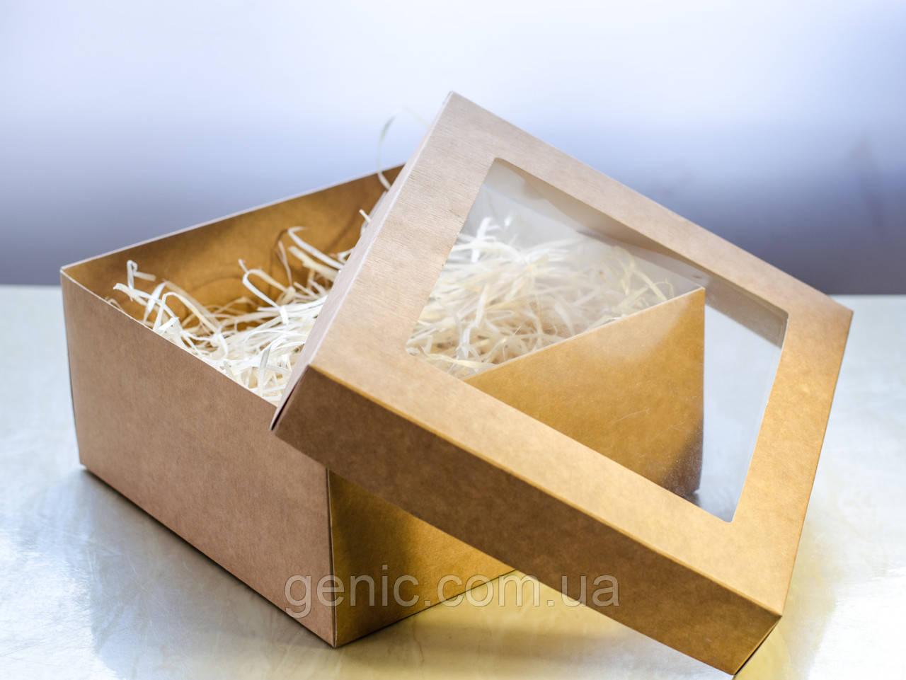 Подарочная коробка с наполнителем. Размер коробки 17*17*10 см