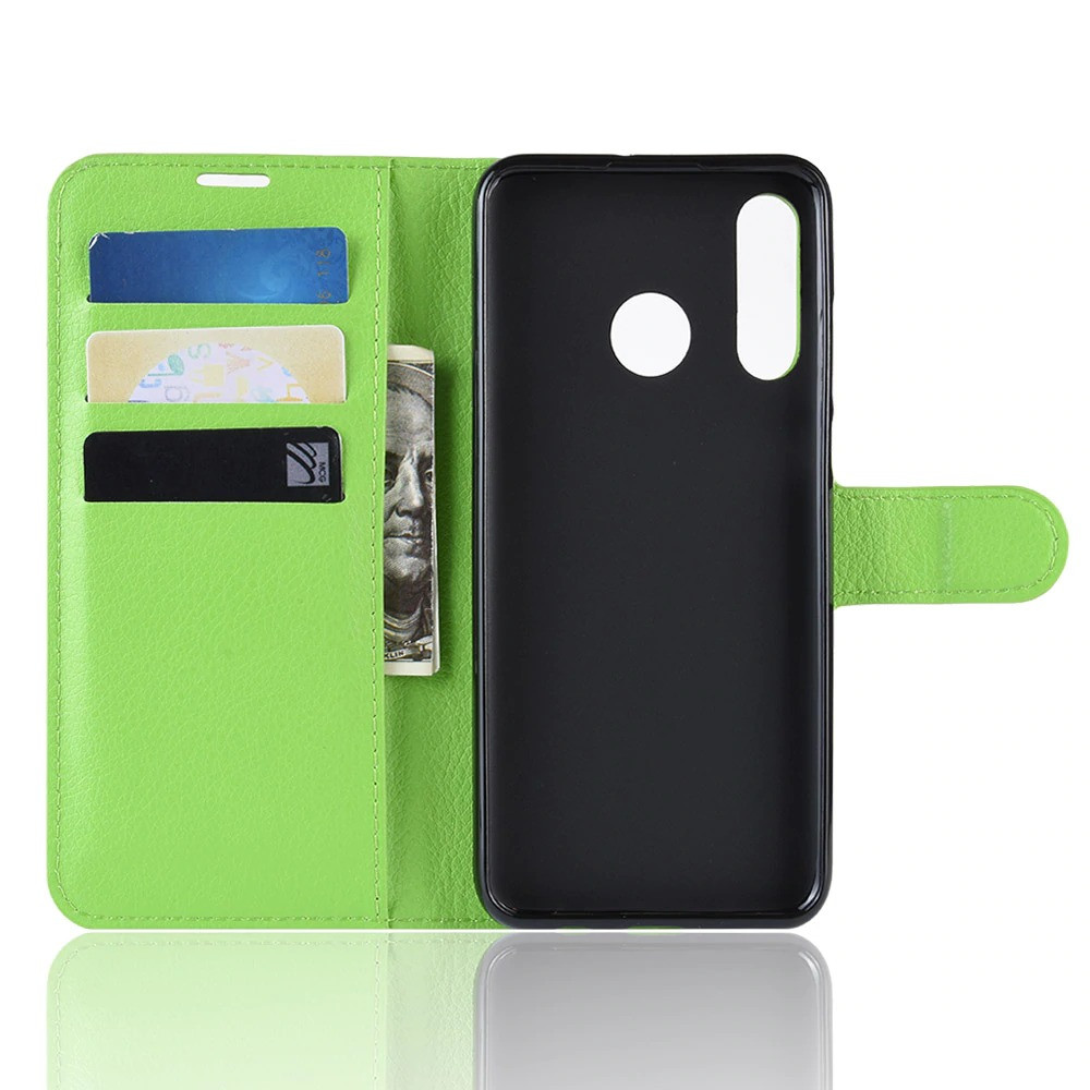 Чехол Luxury для Huawei P30 Lite / Nova 4e книжка зеленый