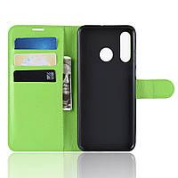Чехол Luxury для Huawei P30 Lite / Nova 4e книжка зеленый, фото 1
