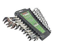 Набор ключей комбинированных, 12 рожково-накидных. Ключи разных размеров рожковые+накидные King STD KSP-1-012