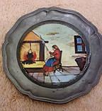 """Оловянные декоративные тарелки с порцеляной: триптих """"Хозяева"""", фото 5"""