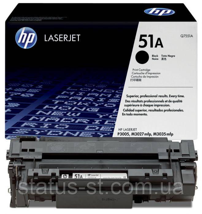 Заправка картриджа  HP 51A (Q7551A) для принтера LJ M3027, M3035, P3005, P3005DN