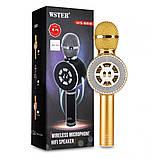 Микрофон с функцией Караоке Колонки Wster WS-669 (USB, microSD, AUX, Bluetooth), фото 2