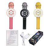 Микрофон с функцией Караоке Колонки Wster WS-669 (USB, microSD, AUX, Bluetooth), фото 3
