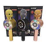 Микрофон с функцией Караоке Колонки Wster WS-669 (USB, microSD, AUX, Bluetooth), фото 4