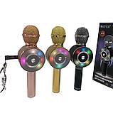 Микрофон с функцией Караоке Колонки Wster WS-669 (USB, microSD, AUX, Bluetooth), фото 5