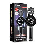 Микрофон с функцией Караоке Колонки Wster WS-669 (USB, microSD, AUX, Bluetooth), фото 6