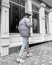 Чоловіча утеплена куртка, зима-осінь, Grey, фото 3