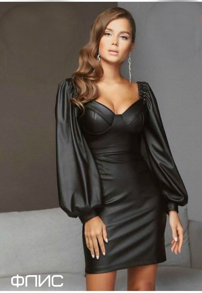 Женское платье кожаное зиг3112