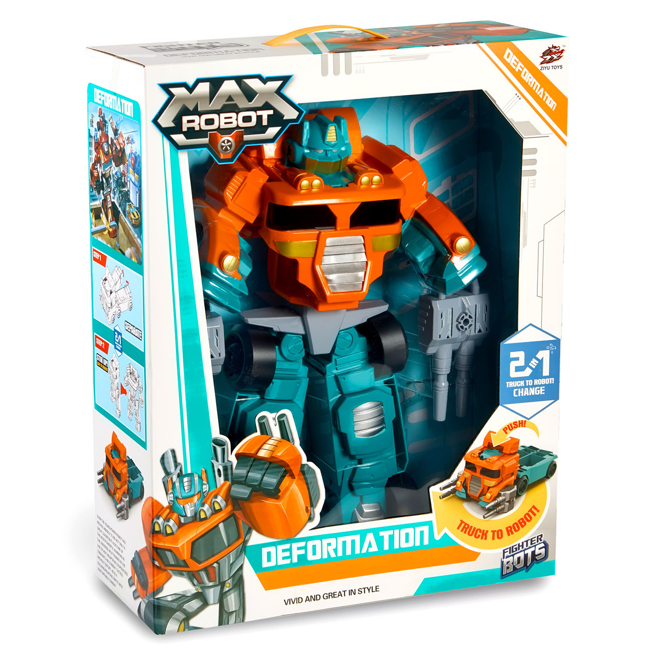 Робот-трансформер з кулеметами Max.Електро-робот