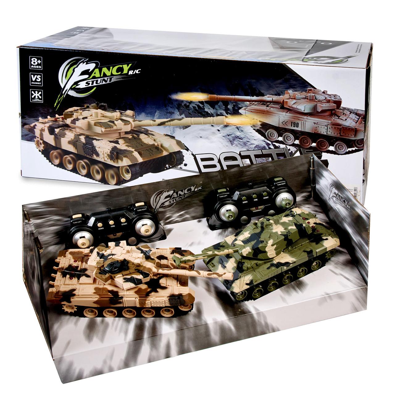 ВІДЕООГЛЯД! Ігровий набір з 2 танків на радіоуправлінні з акумуляторами. Танк на радіокеруванні.