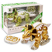 Детская игрушка на радиоуправлении динозавр робот Dino Storm. Динозавр робот-трансформер Динозавр на п/у