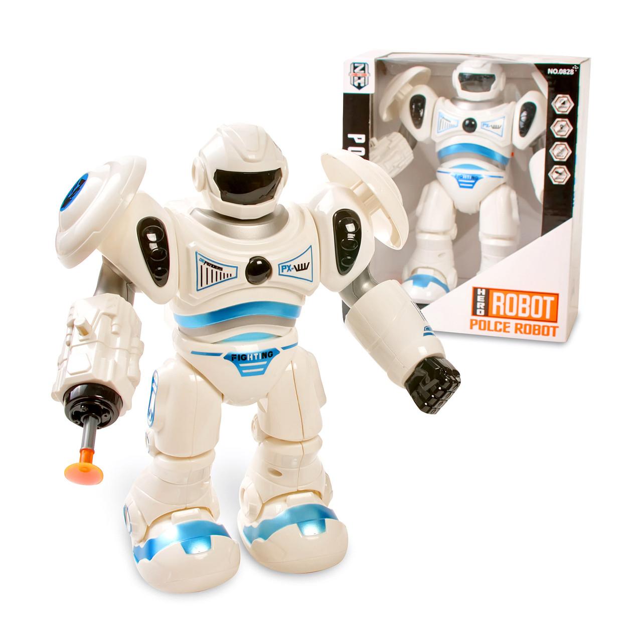 Інтерактивний робот іграшка для хлопчиків зі звуковими ефектами Біло-синій