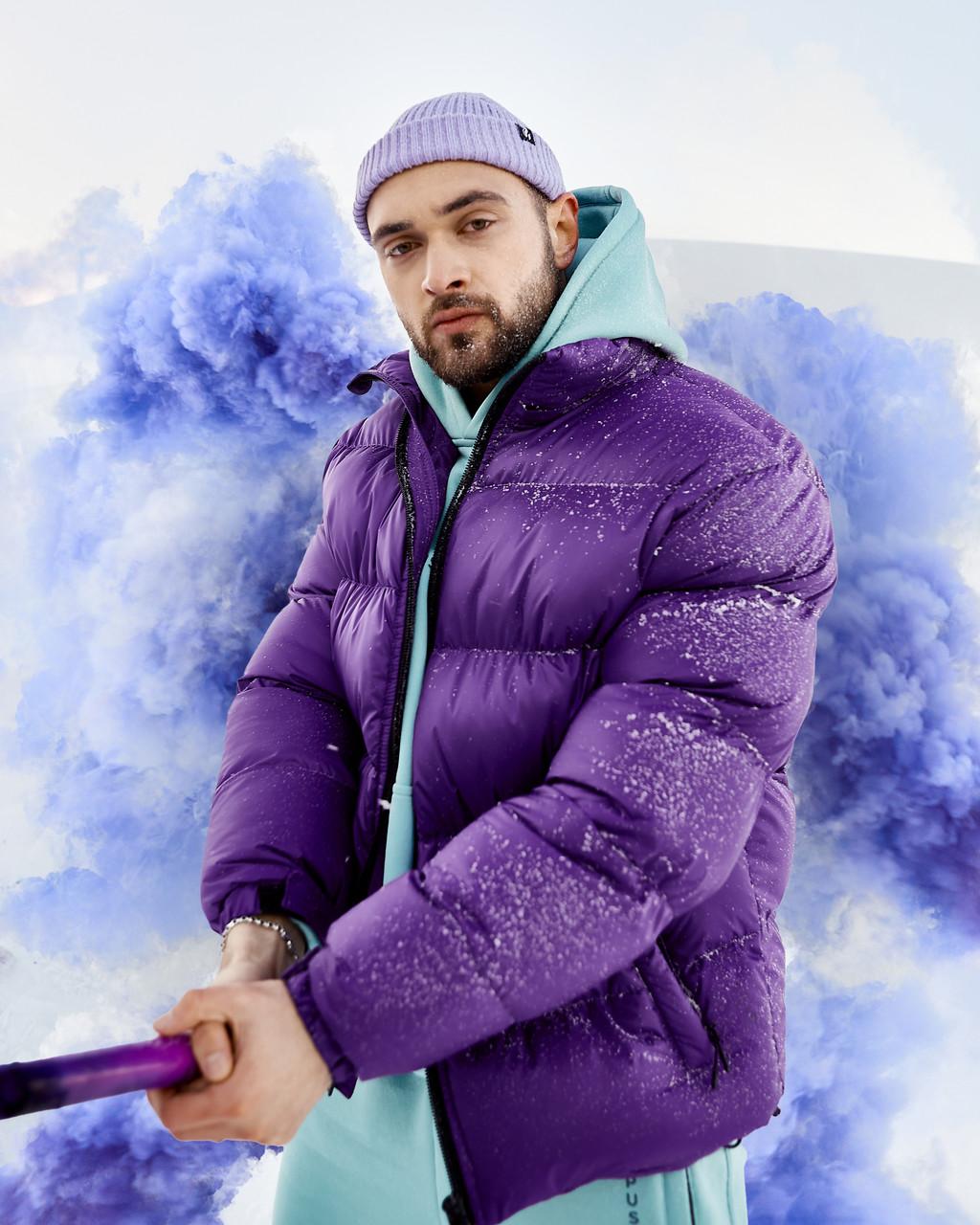 Зимняя мужская куртка Пушка Огонь Homie фиолетовая