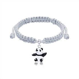 Браслет плетеный UMa UMi Мишка Панда бело-черный (419541800602)