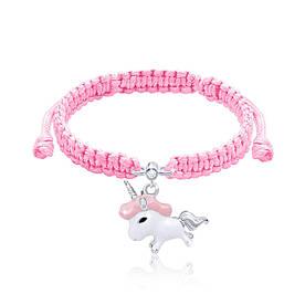 Браслет плетеный UMa UMi Единорог розовый (419542400611)