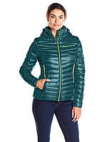 Куртка зимняя женская Spyder Timeless Hoody Down Jacket зеленого цвета, фото 1