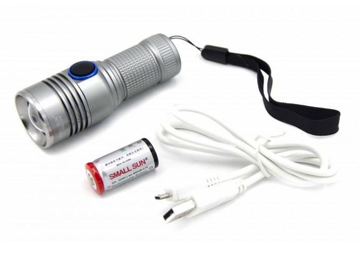 Мощный ручной фонарь BL-1812C портативный компактный фонарик
