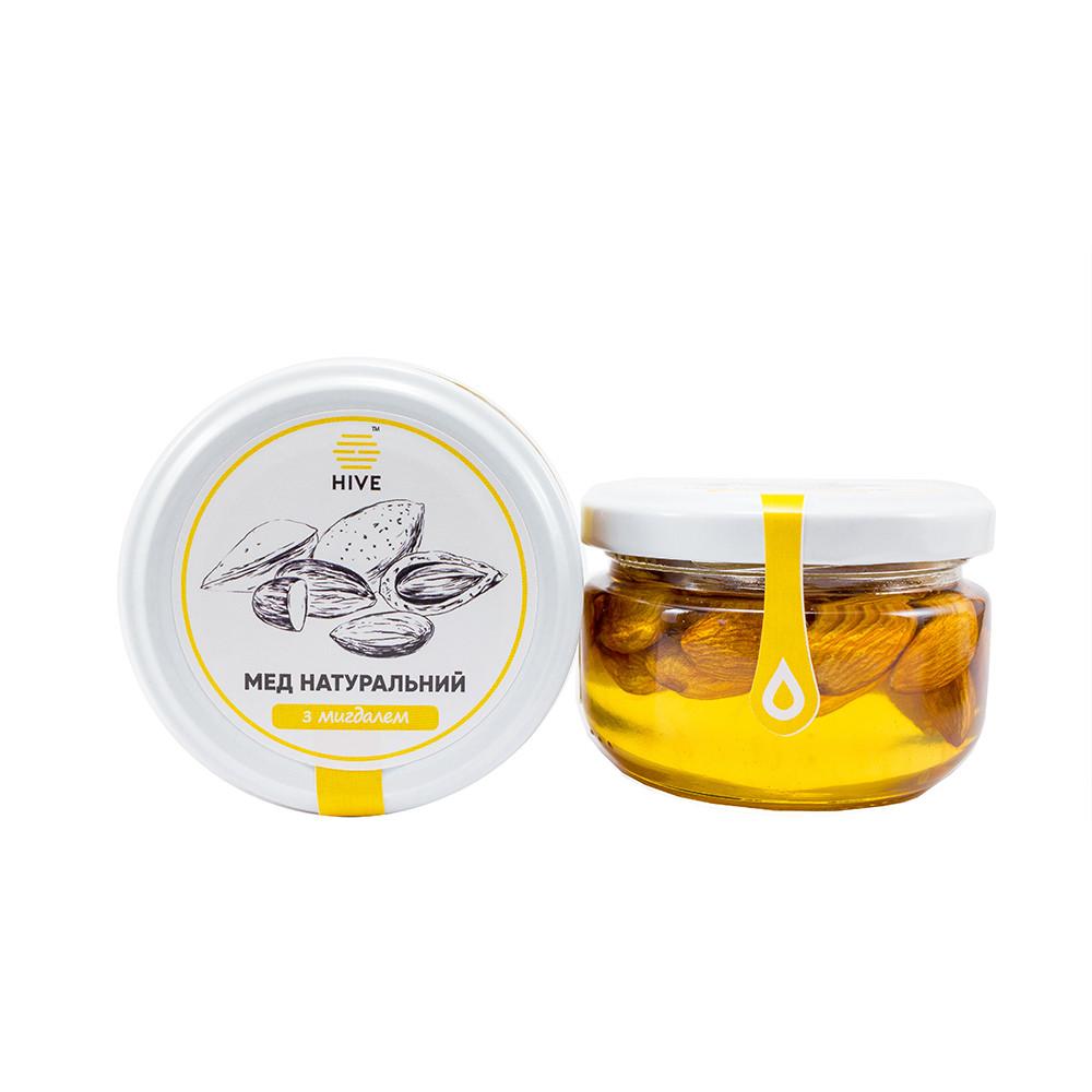 Мед натуральний (акацієвий) з мигдалем 240г.