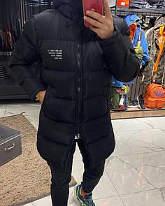 Чоловіча Куртка зимова (подовжена) Black