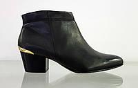 Демисезонные женские кожаные ботильоны ботинки s.oliver 25343